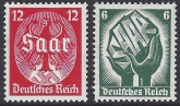 1934 Germany SG.541-2 Saar Plebicite set 2 values U/M (MNH)