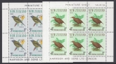 1966 New Zealand MS.841 Health Mini sheets(2) Birds. U/M (MNH)
