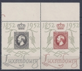 1952 Luxembourg SG.552fa 2F and 4F pair  Philatelic Exhibition U/M (MNH)