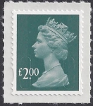 SG.U2914  £2.00 deep blue green 'MAIL'   DLR  U/M (MNH)