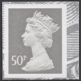 SG.U2917  50p grey 'MPIL'   'MA10'  break at bottom  Walsall   U/M  (MNH)