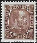 1902 Iceland  SG.48  King Christian IX  16a reddish brown u/m (MNH)