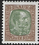 1902 Iceland  SG.50  King Christian IX  25a green & brown u/m (MNH)