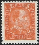 1902 Iceland  SG.43  King Christian IX  3a orange  u/m (MNH)