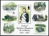 2016 St.Helena. MS.1257 Exile of Napoleon Bonaparte to St. Helena 1815-1821 mini sheet U/M (MNH)