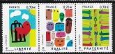 2016 France. SG.5906-8 Liberty - Equality - Fraternity Winning Designs in Schools. set 3 values  U/M (MNH)