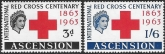 1963  Ascension Island.  SG.85-6  Red Cross Centenary. set 2 values U/M (MNH)