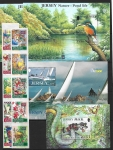 2001 Jersey sets. Face Value £24.65 @ 50% face value. (2 pages) U/M (MNH)