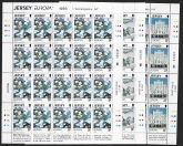 1993 Jersey.  Contemporary Art & Europa sheetlets. Face value £18.00 @ 50%  Face value U/M (MNH)