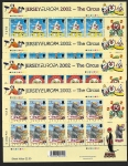2002 Jersey Europa - The Circus sheetlets. Face value £15.80 @ 50% of face value. U/M (MNH)