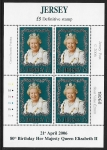 2006 Jersey. Queen Elizabeth II  80th Birthday Mini Sheet. picture for display purpose only (sheet no. will vary) @ 75% of face value U/M (MNH)