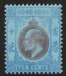 1903  Hong Kong  SG.67  10 cent purple and blue/blue  M/M