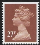 X973   27p phos  chestnut imperf  top  Harrison  U/M (MNH)