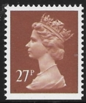 X973  27p phos  chestnut  imperf bottom  Harrison U/M (MNH)
