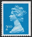 SG.1445 2nd CB bright blue imperf top & right Photo Harrison Perf 15x14 gummed U/M (MNH)