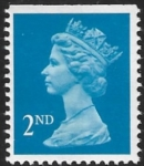 SG.1449 2nd CB bright blue Imperf top Litho Walsall perf 14 gummed U/M (MNH)