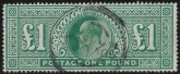 Great Britain KEVII SG.320  £1 green fine used.