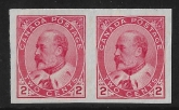 1909 Canada SG. 177a 2c pale rose carmine imperf Pair. with RPS certificate.  U/M (MNH)