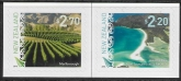 2016  New Zealand SG.3779-80  Landscapes 6th series. (self adhesive) set  2  values U/M (MNH)