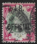 Great Britain  SG.O19  1s green & carmine  overprinted I.R. OFFICIAL  used