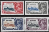 1935 Barbados  - SG.241-4  KGV Silver Jubilee set  mounted mint. Cat. value £30.00