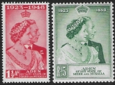 Aden/Mukalla - 1948 Royal Silver Wedding. SG.14-5  lightly mounted mint. (cat. value £17.50)