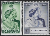 Cayman Islands - 1948 Royal Silver Wedding. SG.129-30  very lightly mounted mint. (cat. value £24.00)
