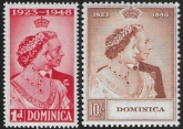 Dominica - 1948 Royal Silver Wedding. SG.112-3 lightly mounted mint. (cat. value £25.00)