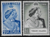 British Virgin  Islands - 1948 Royal Silver Wedding. SG.124-5   mounted mint. (cat. value £16.00)