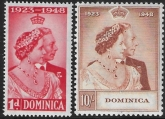 Dominica   - 1948 Royal Silver Wedding. SG.112-3  mounted mint. (cat. value £25.00)