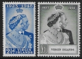 British Virgin  Islands - 1948 Royal Silver Wedding. SG.124/5   mounted mint. (cat. value £16.00)